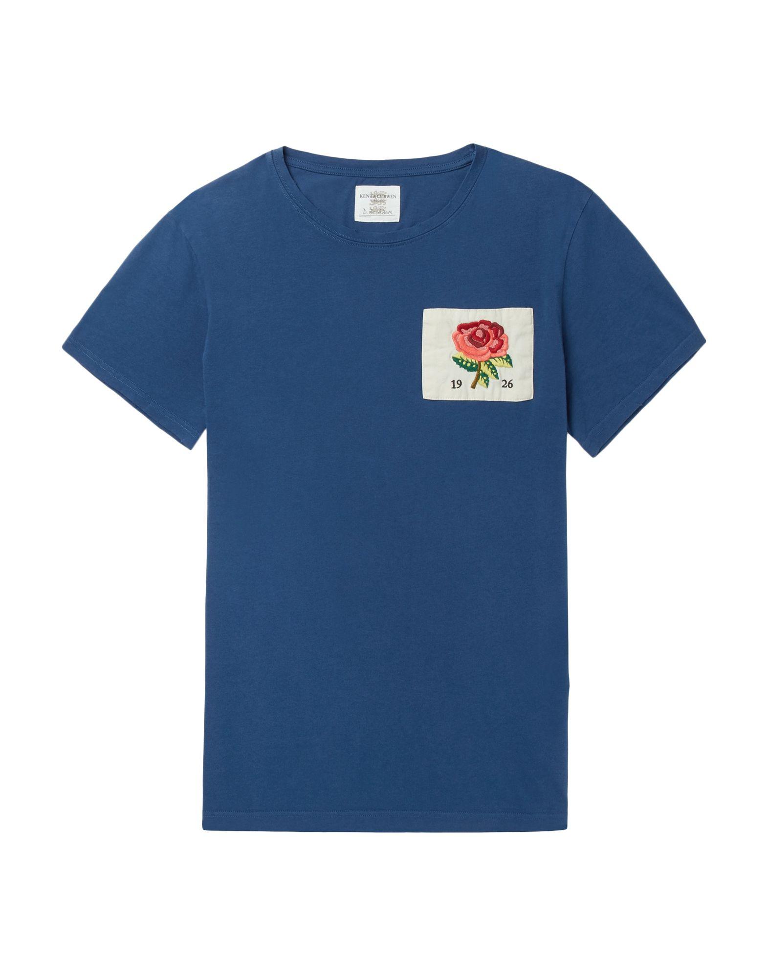 《送料無料》KENT & CURWEN メンズ T シャツ ブルー S コットン 100%