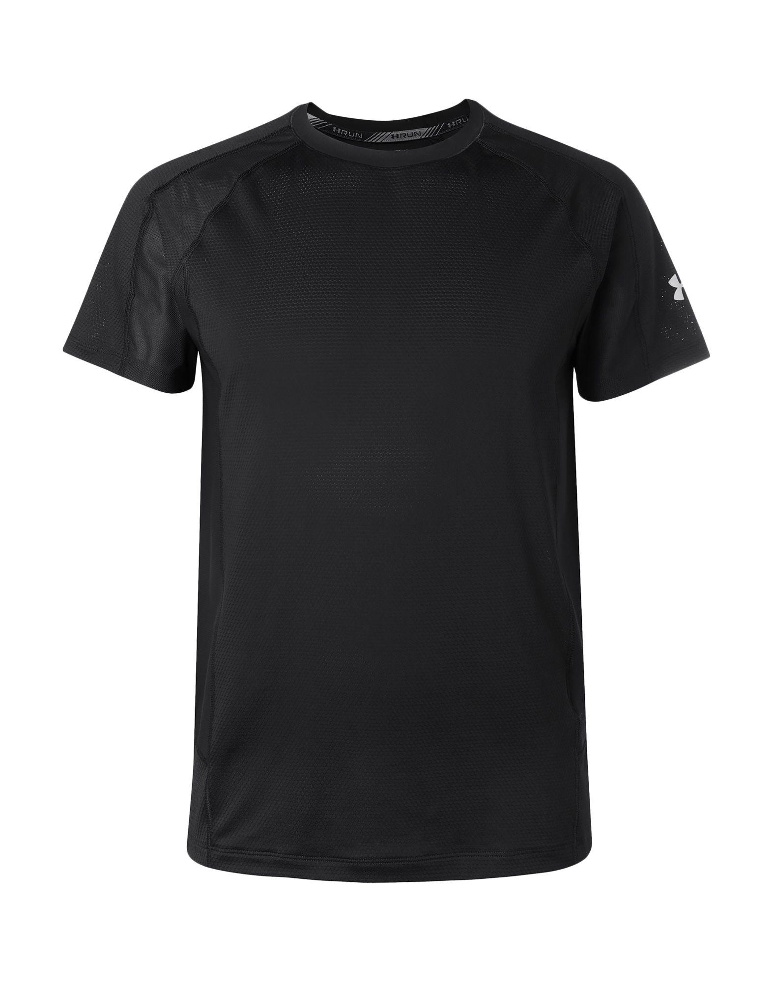《送料無料》UNDER ARMOUR メンズ T シャツ ブラック L ポリエステル 95% / ポリウレタン 5% / ナイロン