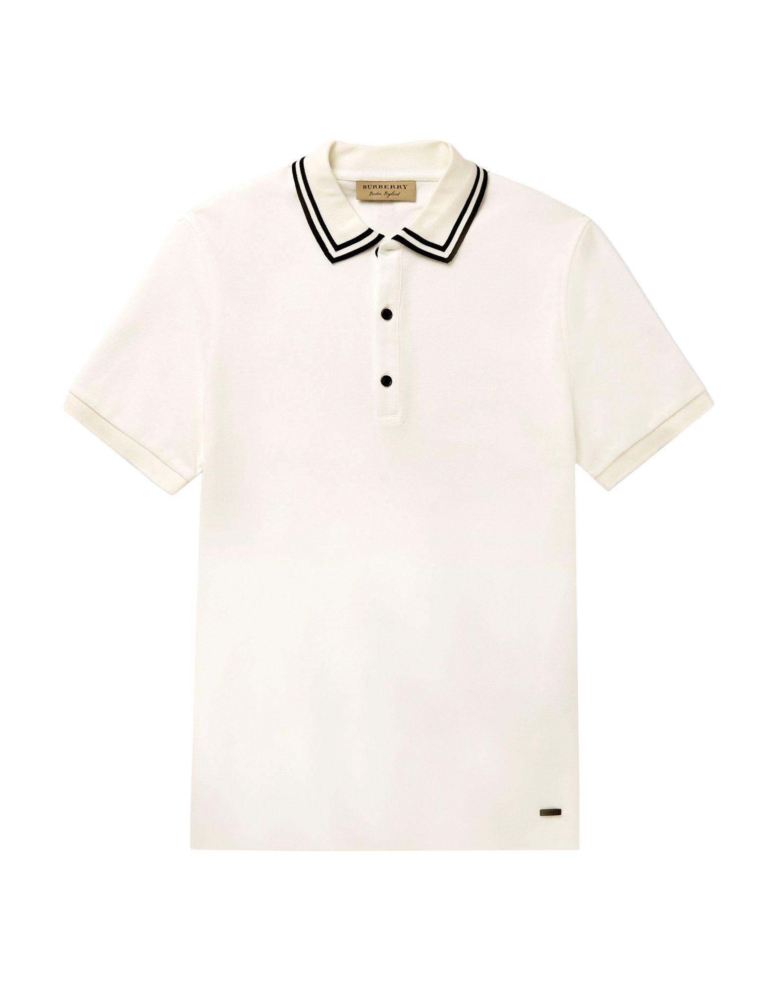 《送料無料》BURBERRY メンズ ポロシャツ アイボリー XXL コットン 100%