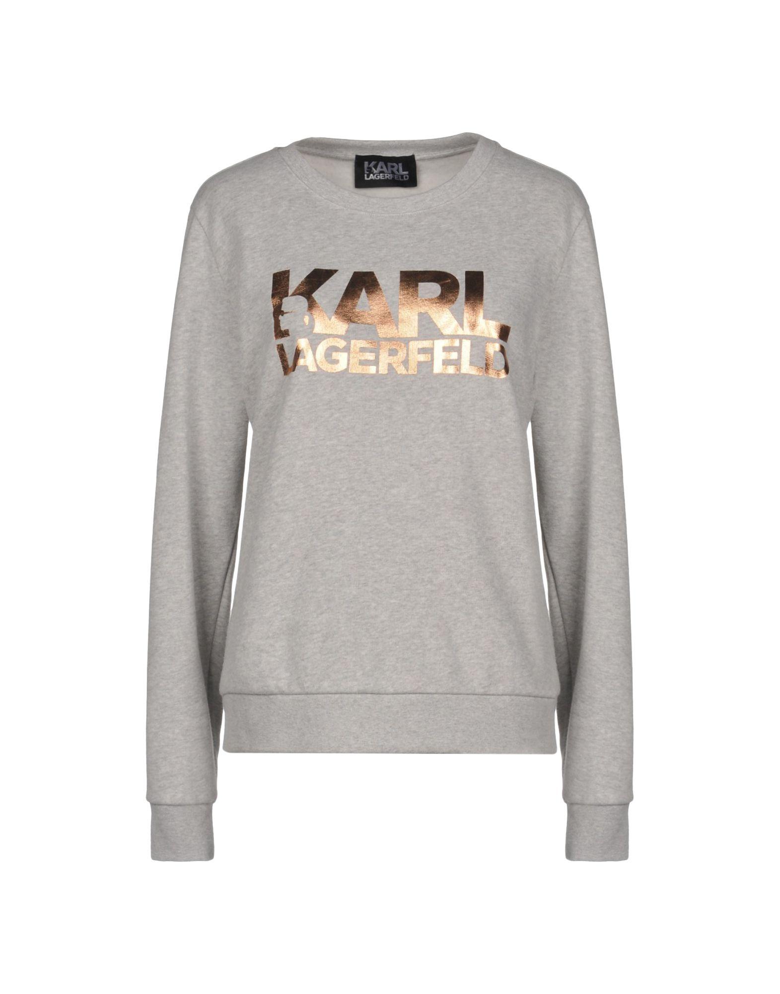 《送料無料》KARL LAGERFELD レディース スウェットシャツ ライトグレー XS コットン 100%