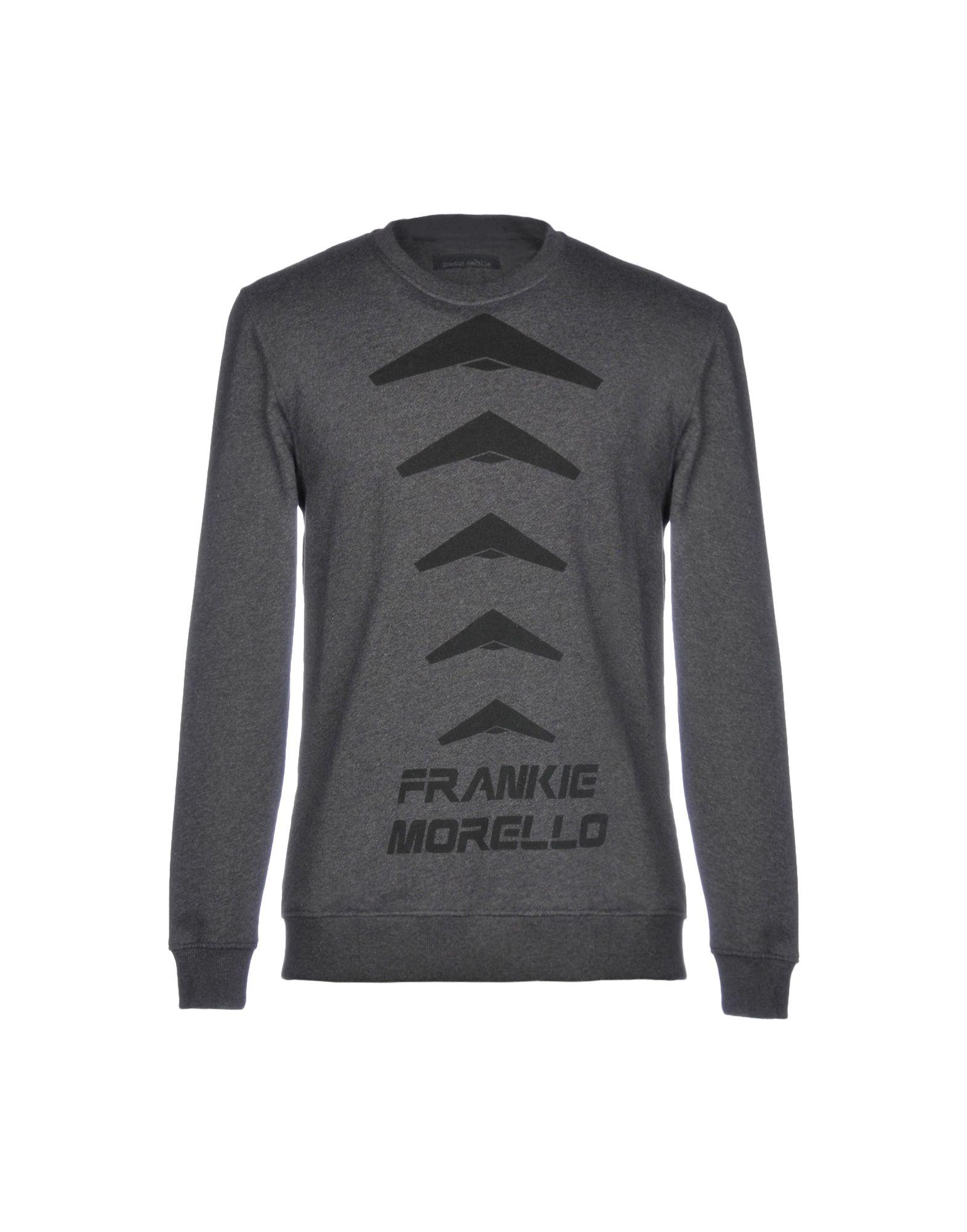 《送料無料》FRANKIE MORELLO メンズ スウェットシャツ スチールグレー XXL コットン 100%