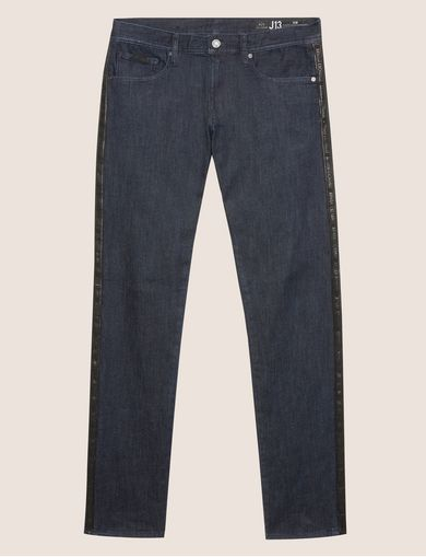 SLIM-FIT LOGO TAPE INDIGO JEAN