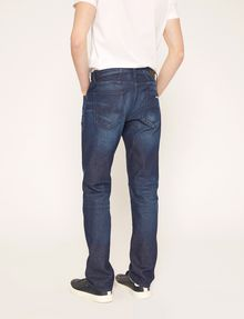 ARMANI EXCHANGE STRAIGHT-FIT MID INDIGO WHISKERED JEAN STRAIGHT FIT JEANS Man e