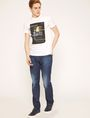 ARMANI EXCHANGE STRAIGHT-FIT MID INDIGO WHISKERED JEAN STRAIGHT FIT JEANS Man d