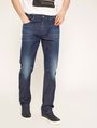 ARMANI EXCHANGE STRAIGHT-FIT MID INDIGO WHISKERED JEAN STRAIGHT FIT JEANS Man f