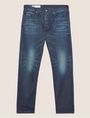 ARMANI EXCHANGE STRAIGHT-FIT MID INDIGO WHISKERED JEAN STRAIGHT FIT JEANS Man r