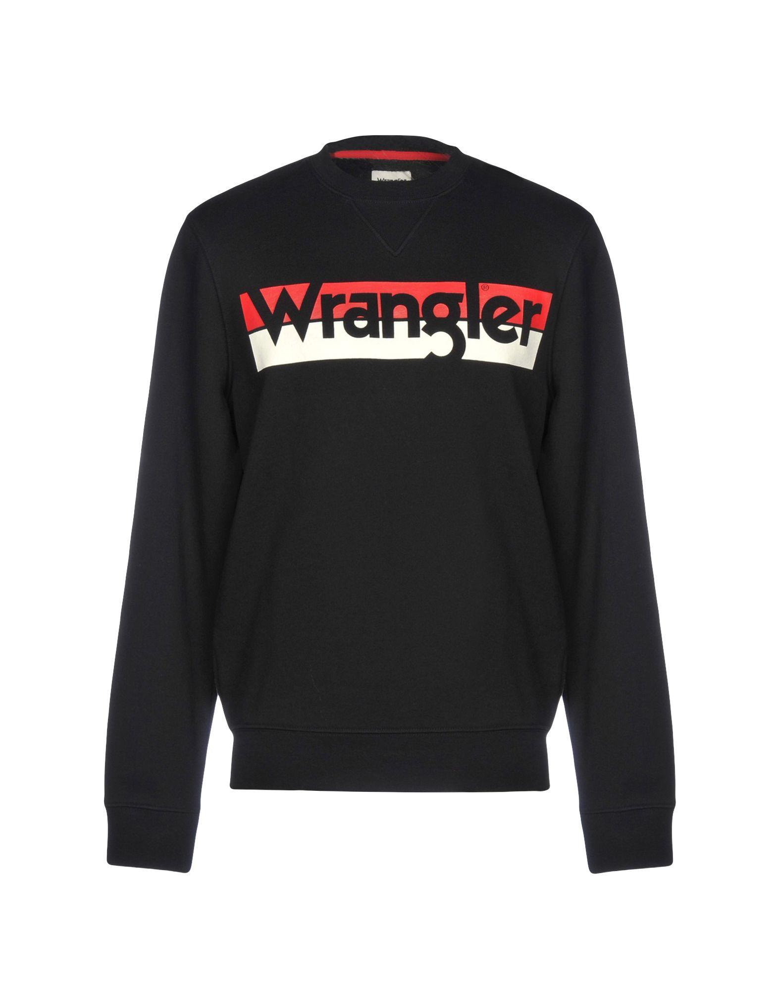 《セール開催中》WRANGLER メンズ スウェットシャツ ブラック XL コットン 100%