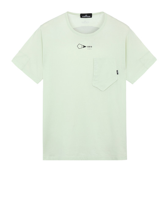 20110 PRINTED SS CATCH POCKET-T (JERSEY MAKO) GARMENT DYED
