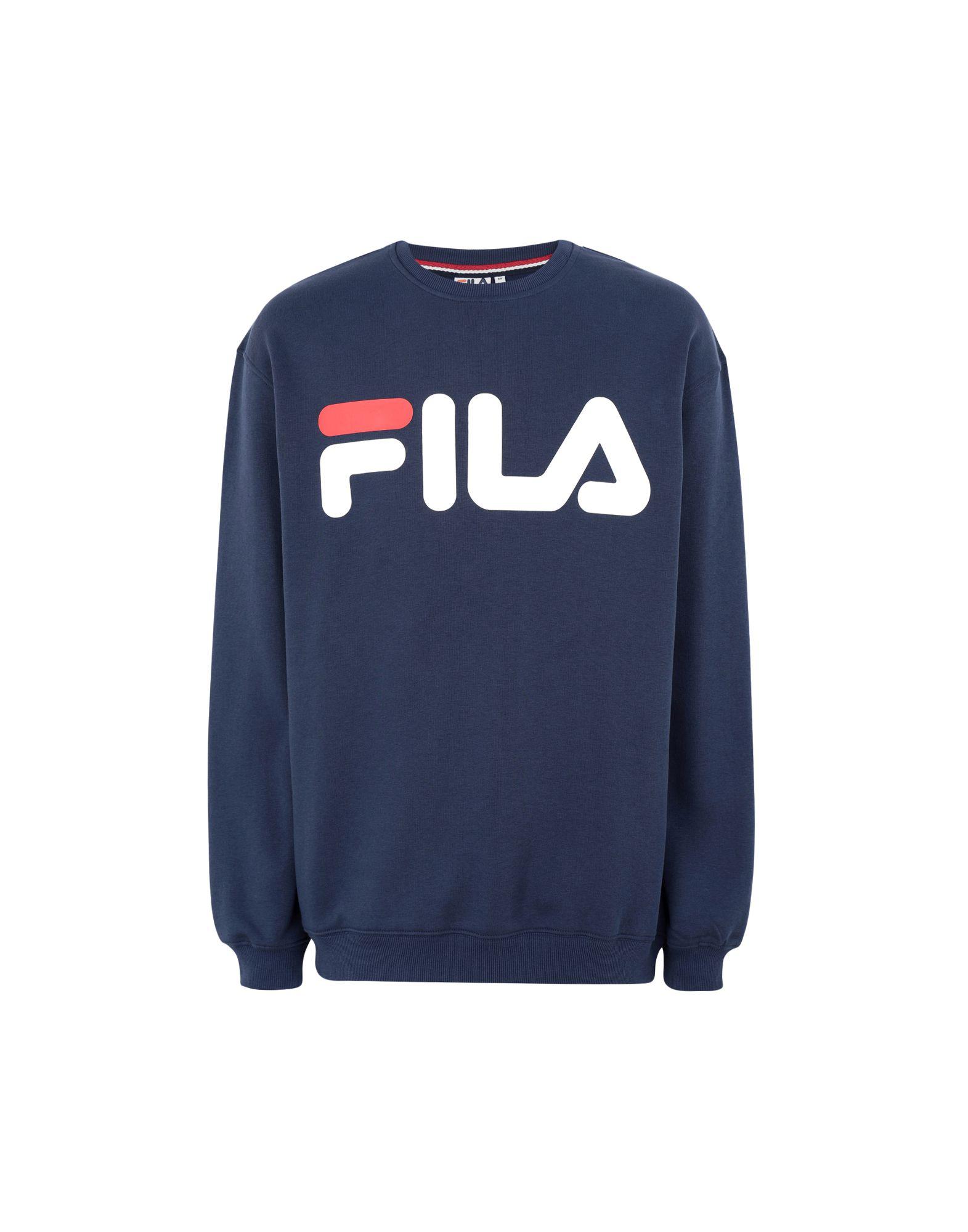 《セール開催中》FILA HERITAGE メンズ スウェットシャツ ブルー XL コットン 80% / ポリエステル 20% Classic Logo Sweat