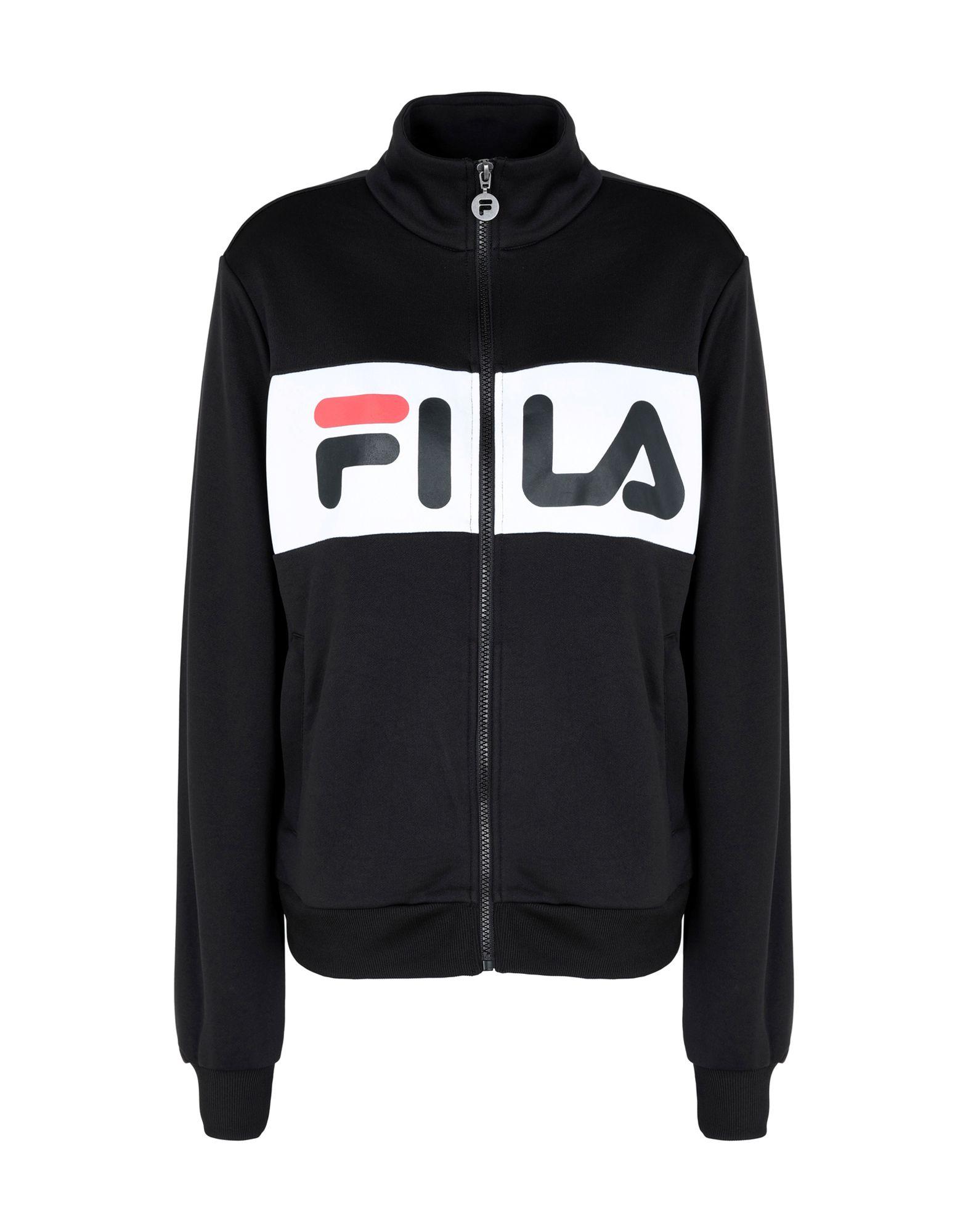 《送料無料》FILA HERITAGE レディース スウェットシャツ ブラック M ポリエステル 100% Bronte Track Jacket