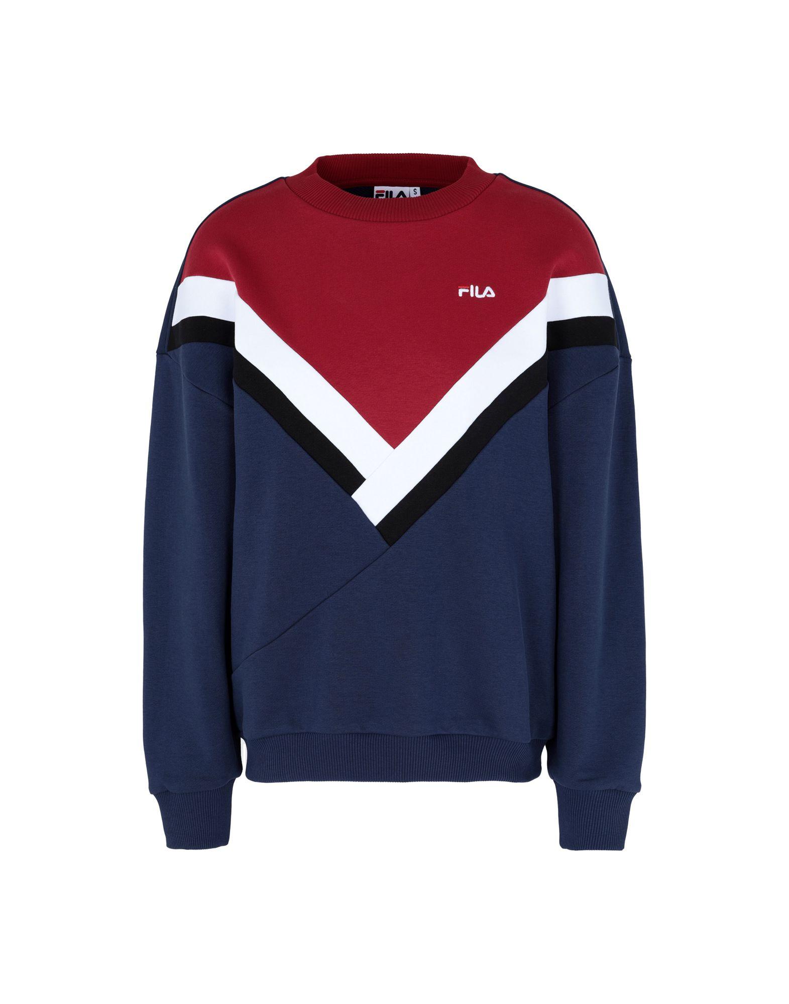《セール開催中》FILA HERITAGE レディース スウェットシャツ ブルー XL コットン 87% / ポリエステル 13% Nissa Crew Sweat