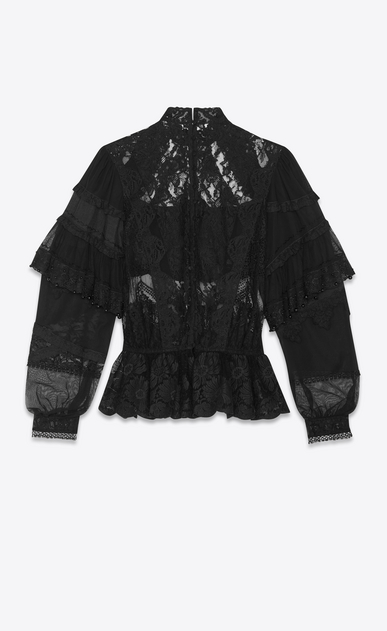 SAINT LAURENT Tops and Blouses Woman lace embroidered blouse b_V4