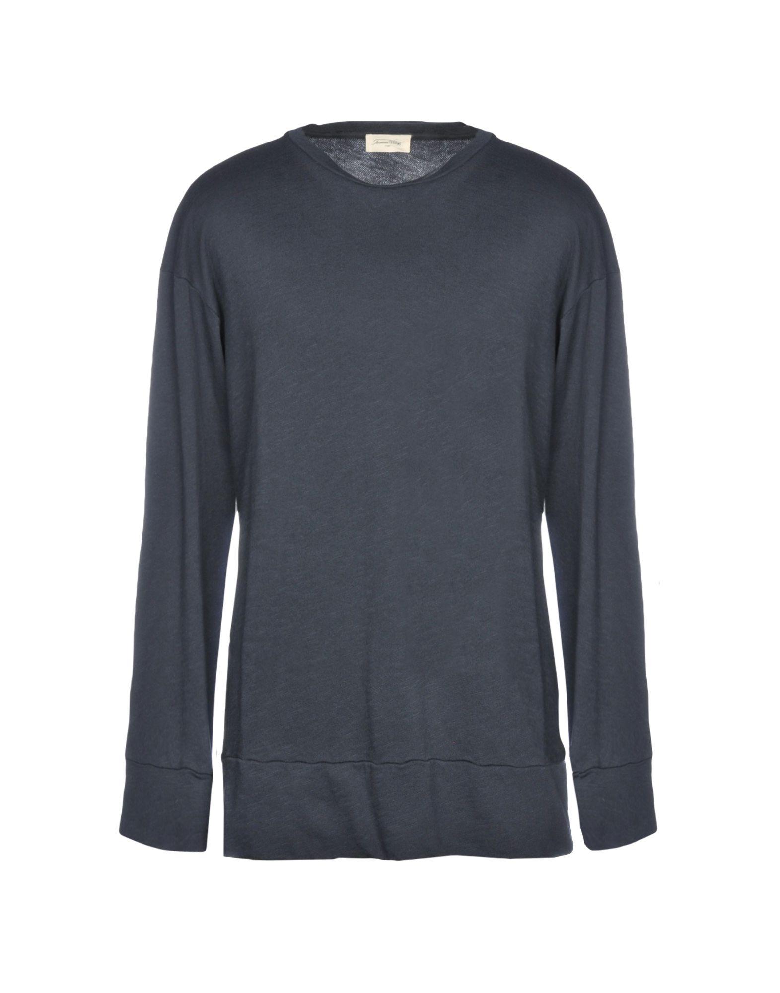 《送料無料》AMERICAN VINTAGE メンズ スウェットシャツ ブルー S コットン 100%