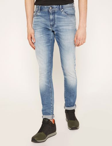 SKINNY-FIT WASHED LIGHT INDIGO JEAN
