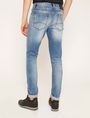 ARMANI EXCHANGE SKINNY-FIT WASHED LIGHT INDIGO JEAN Skinny jeans Man e