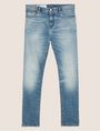 ARMANI EXCHANGE SKINNY-FIT WASHED LIGHT INDIGO JEAN Skinny jeans Man r