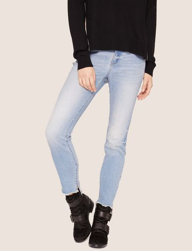 J25 SUPER-SKINNY HIGH-LOW LIGHT INDIGO JEAN