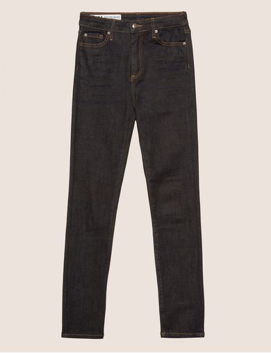 SUPER-SKINNY HIGH-RISE DARK INDIGO JEAN