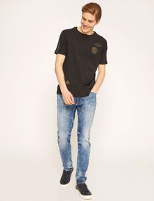 ARMANI EXCHANGE J22 TAPERED-FIT ACID WASH INDIGO JEAN Tapered Jean [*** pickupInStoreShippingNotGuaranteed_info ***] d