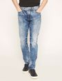 ARMANI EXCHANGE J22 TAPERED-FIT ACID WASH INDIGO JEAN Tapered Jean [*** pickupInStoreShippingNotGuaranteed_info ***] f