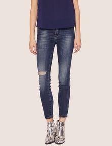 ARMANI EXCHANGE J01 SUPER-SKINNY RIPPED INDIGO JEAN Skinny jeans [*** pickupInStoreShipping_info ***] f
