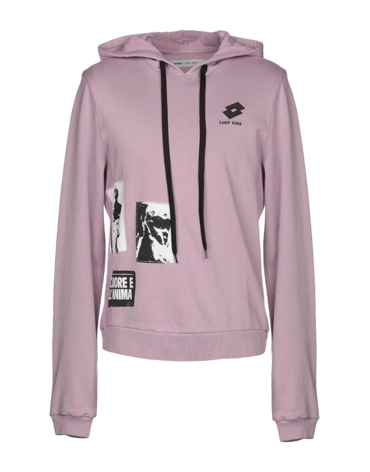 《送料無料》DAMIR DOMA x LOTTO メンズ スウェットシャツ ライラック XS コットン 100%