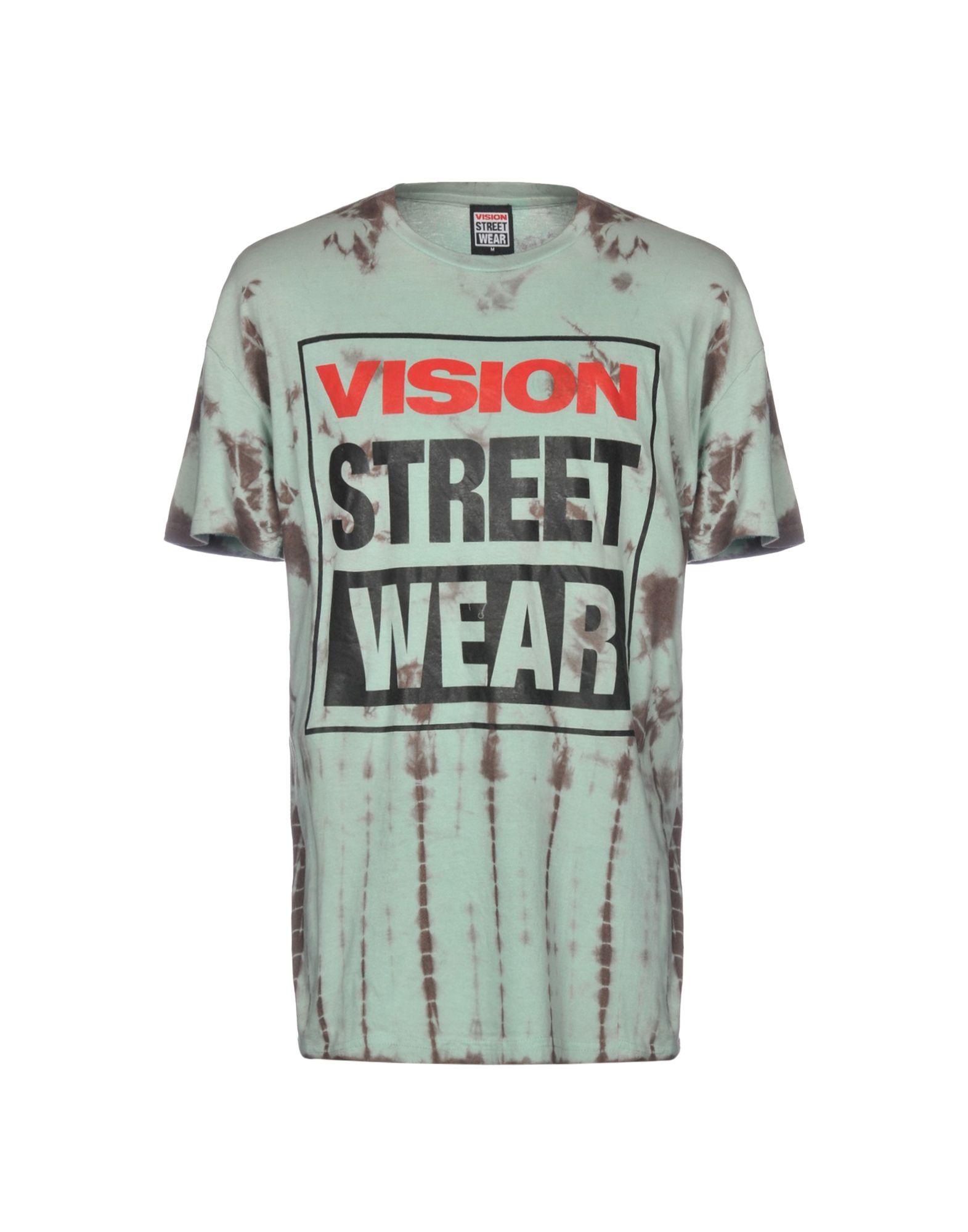 《送料無料》VISION STREET WEAR メンズ T シャツ ライトグリーン M コットン