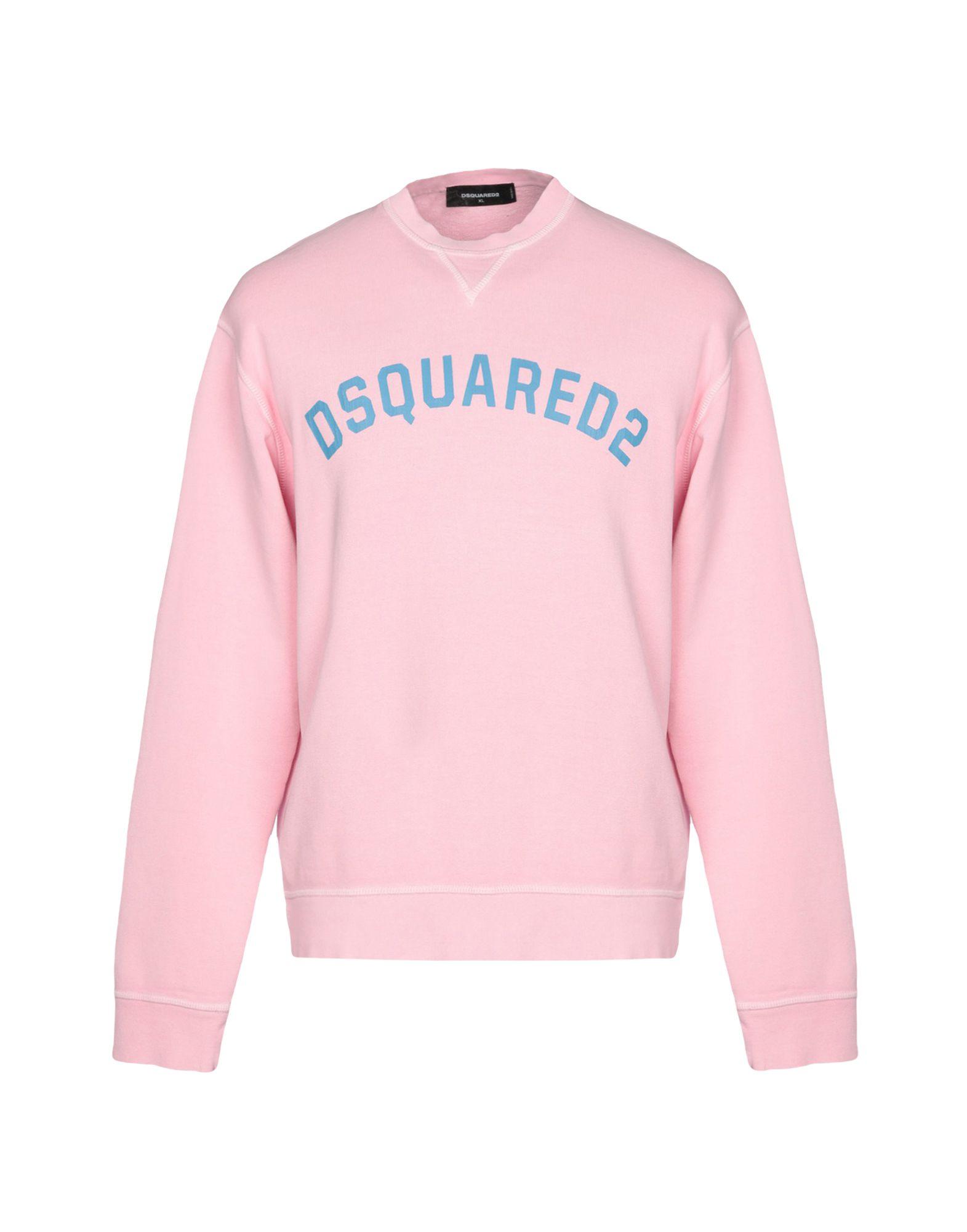 《セール開催中》DSQUARED2 メンズ スウェットシャツ ピンク L コットン 100%