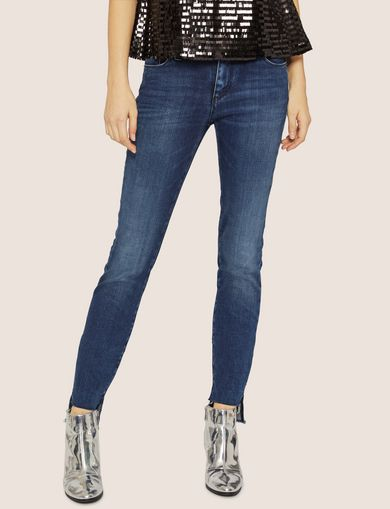 J25 SUPER-SKINNY HIGH-LOW RAW HEM JEAN