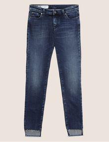 ARMANI EXCHANGE J25 SUPER-SKINNY HIGH-LOW RAW HEM JEAN Skinny jeans Woman r