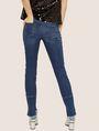 ARMANI EXCHANGE J25 SUPER-SKINNY HIGH-LOW RAW HEM JEAN Skinny jeans Woman e