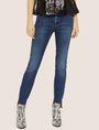 ARMANI EXCHANGE J25 SUPER-SKINNY HIGH-LOW RAW HEM JEAN Skinny jeans Woman f
