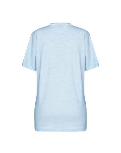 Фото 2 - Женскую футболку DSQUARED2 x K-WAY небесно-голубого цвета