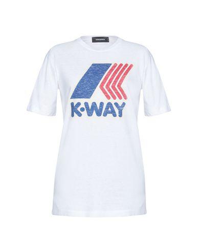 Фото - Женскую футболку DSQUARED2 x K-WAY белого цвета