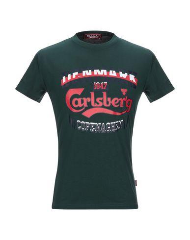 Купить Женскую футболку CARLSBERG темно-зеленого цвета