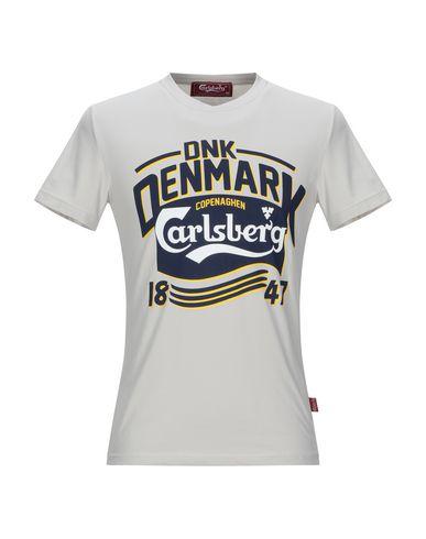 Купить Женскую футболку CARLSBERG светло-серого цвета