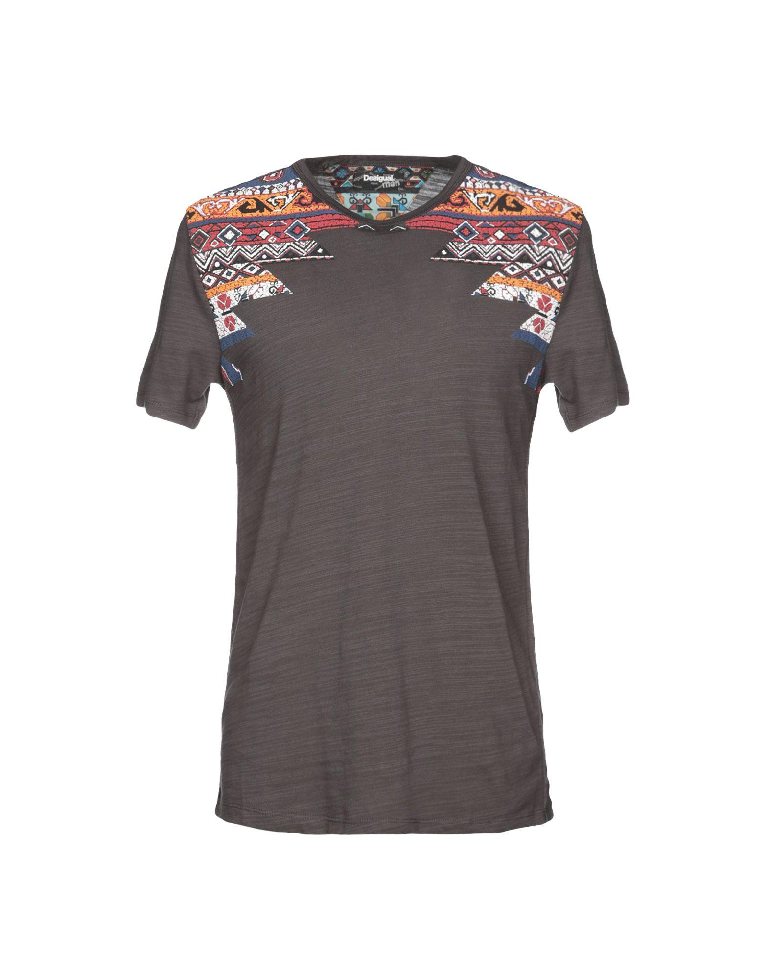 《セール開催中》DESIGUAL メンズ T シャツ 鉛色 S 100% コットン