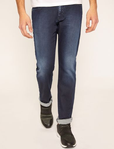 SLIM-FIT INDIGO RINSE FLEECE JEAN