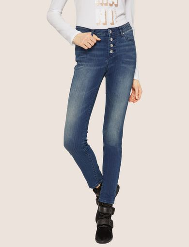 J27 SUPER-SKINNY BUTTON-FLY JEAN