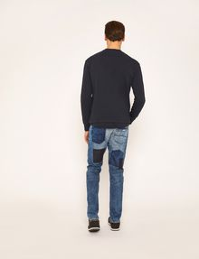 ARMANI EXCHANGE SLIM-FIT RIPPED AND REPAIRED INDIGO JEAN Slim fit JEANS [*** pickupInStoreShippingNotGuaranteed_info ***] e