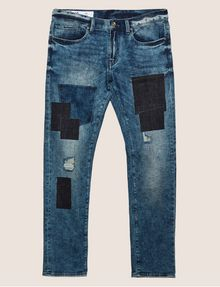 ARMANI EXCHANGE SLIM-FIT RIPPED AND REPAIRED INDIGO JEAN Slim fit JEANS [*** pickupInStoreShippingNotGuaranteed_info ***] r