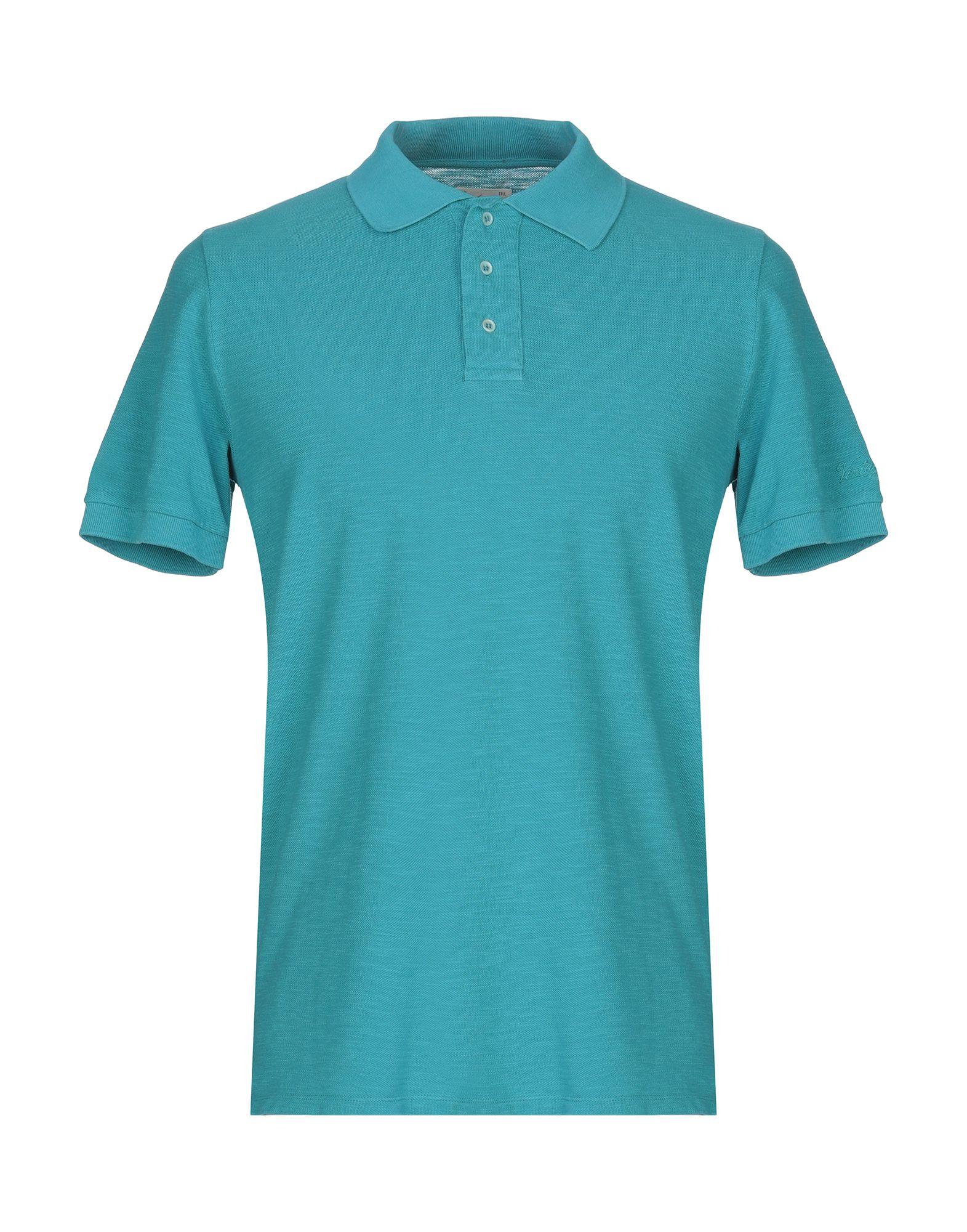 《送料無料》VINTAGE 55 メンズ ポロシャツ アジュールブルー S コットン 100%