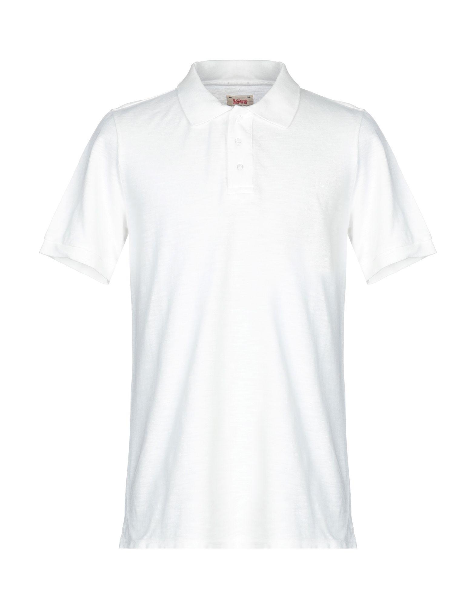 《送料無料》VINTAGE 55 メンズ ポロシャツ ホワイト S コットン 100%