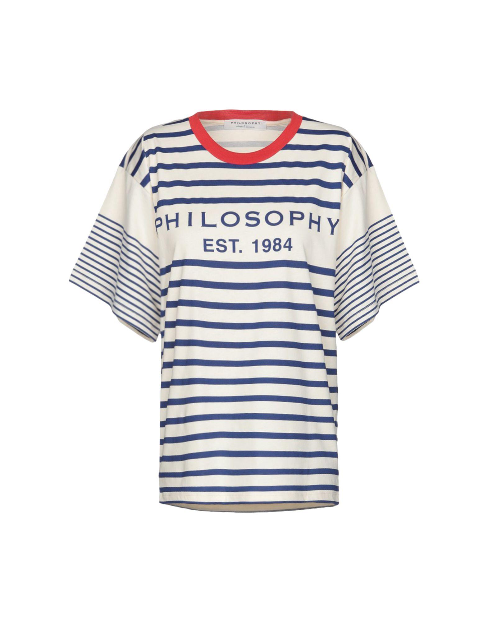 《期間限定 セール開催中》PHILOSOPHY di LORENZO SERAFINI レディース T シャツ ベージュ S コットン 100%