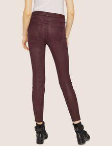 ARMANI EXCHANGE J14 COATED ZIP-UP MOTO JEGGING Skinny jeans [*** pickupInStoreShipping_info ***] e