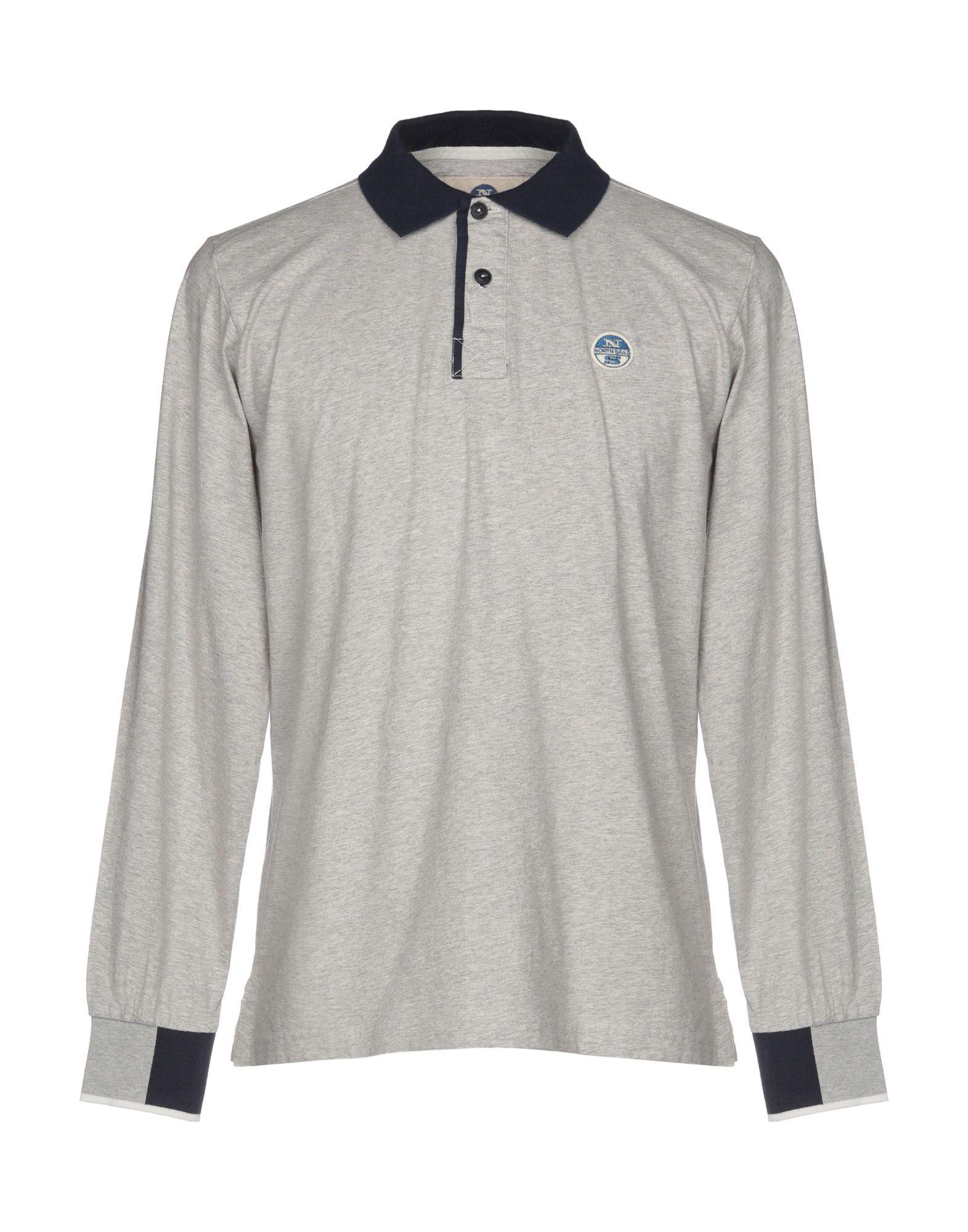 《送料無料》NORTH SAILS メンズ ポロシャツ ライトグレー L コットン 100%
