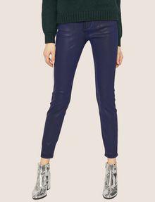 ARMANI EXCHANGE J69 SUPER-SKINNY COATED LIFT-UP JEAN Skinny jeans Woman f