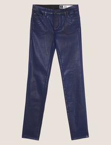 ARMANI EXCHANGE J69 SUPER-SKINNY COATED LIFT-UP JEAN Skinny jeans Woman r