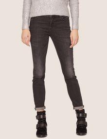 ARMANI EXCHANGE J01 SUPER-SKINNY WASHED DARK GREY JEAN Skinny jeans Woman f