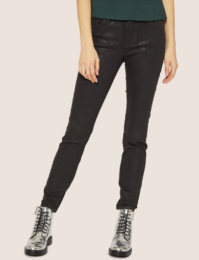 J69 SUPER-SKINNY COATED LIFT-UP JEAN
